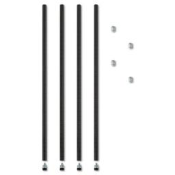 Alera SW59PO36BL Stackable Posts For Wire Shelving  36  h  Black  4 Pack