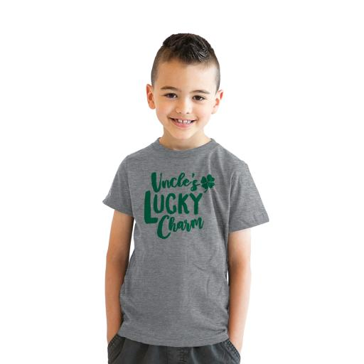 Youth Uncles Lucky Charm Funny Saint Patricks Day Lucky Irish Kids T shirts