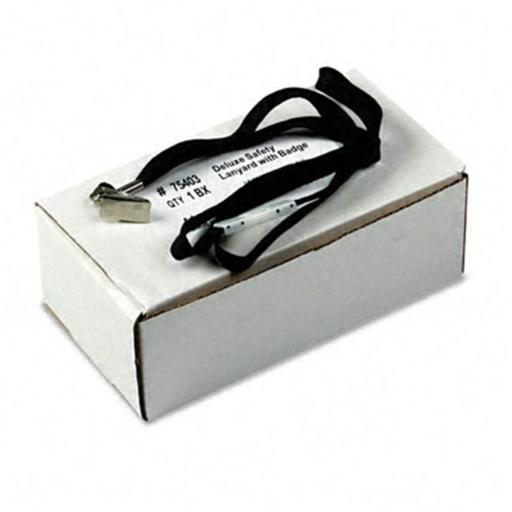 Advantus 75403 Safety Lanyard for ID Cards/Badges Clip Style 36 Black 24 per Box