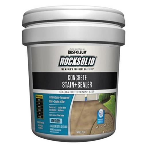 Rust-Oleum 230234 5 gal Rocksolid Concrete Stain & Sealer - Low Gloss