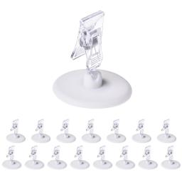 Yescom 16 Pack Plastic Sign Clip Holder Rotatable Merchandise Sign Pop Display Clip
