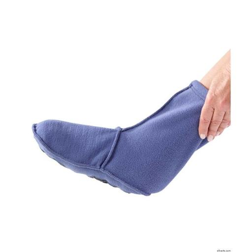 Silverts 302500203 Warm & Soft Anti Skid Resistant Bootie Slippers for Unisex - Steel Blue, Large