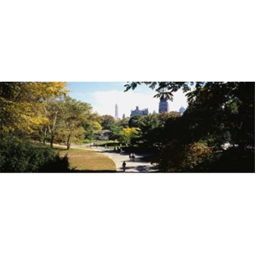 Panoramic Images PPI95567L High angle view of a group of people walking in a park Central Park Manhattan New York City New York State USA Poster