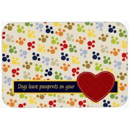 Carolines Treasures SB3054LCB Dogs Leave Pawprints On Your Heart Glass Cutting Board - Large SB3054LCB