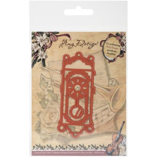 Find It Trading Amy Design Vintage Christmas Die Old-Fashioned Clock