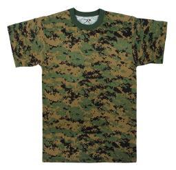 Boys Woodland Digital Camouflage T-Shirt