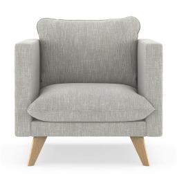 NyeKoncept 50170143 Jaedyn Armchair Twilled Weave - Cloud Gray with Natural Finish