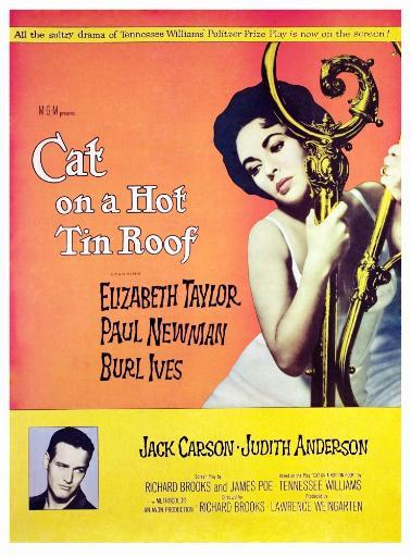 Cat On A Hot Tin Roof Elizabeth Taylor Paul Newman 1958. Movie Poster Masterprint