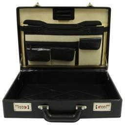 Roadpro  Hh-003Pm Bk Faux Leather Briefcase  Black HH-003PM/BK