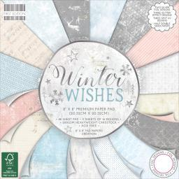 "First Edition Premium Paper Pad 8""X8"" 48/Pkg-Winter Wishes, 16 Designs/3 Each FEPAD162"