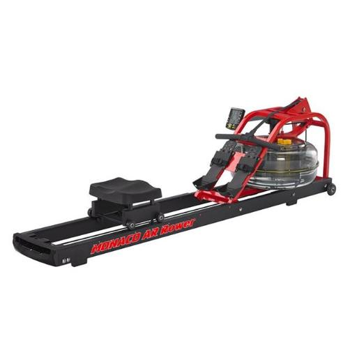 First Degree Fitness FDF-MON-CAR Water Rower Machine, Red & Black