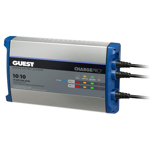 Guest on-board battery charger 20a 12v 2 bank 120v