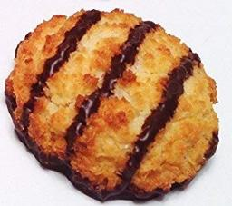 Poppies Belgium Gluten Free Chocolate Flavored Coconut Macaroon Single Serve Cookies, 1.4 Oz (24 Pack)