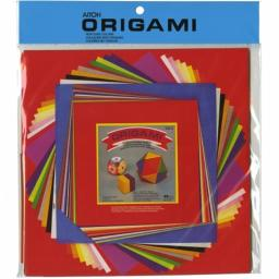 Aitoh OG-2 Origami Paper Set Assorted Sizes 60/Pkg-Solid Colors