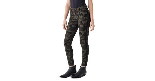 DL1961 Womens Florence Camouflage Skinny Ankle Jeans