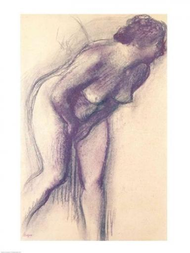 Female Standing Nude Poster Print by Edgar Degas 3IYAICSIK7XKL4A4
