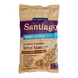 Santiago Low Sodium Dehydrated Vegetarian Refried Beans with Whole Beans, 1.64 Pound Bag