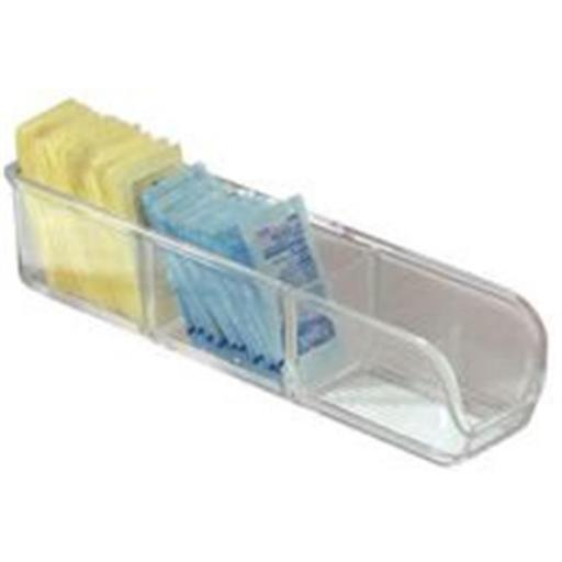 Inter-Design Organizer Sugar/Tea Clear 9In 55130