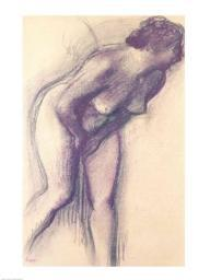 Female Standing Nude Poster Print by Edgar Degas BALBAL76270LARGE