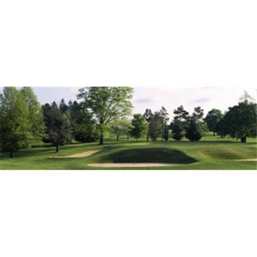 Panoramic Images PPI68401L Sand traps on a golf course Baltimore Country Club Baltimore Maryland USA Poster Print by Panoramic Images - 36 x 12