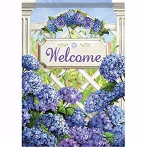 Carson Home Accents 171650 12.5 x 18 in. Garden Gate Hydrangea Garden Flag