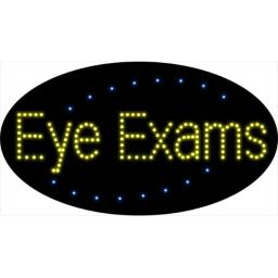 Sign Store L100-1934-outdoor Eye Exams Animated Outdoor LED Sign, 27 x 15 x 3.5 In.