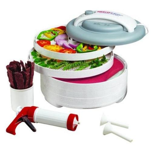 Snackmaster Express All in One Food Dehydrator Kit 5 Tray W/ Jerky Gun 2JRRC0EFHOWGDRKR