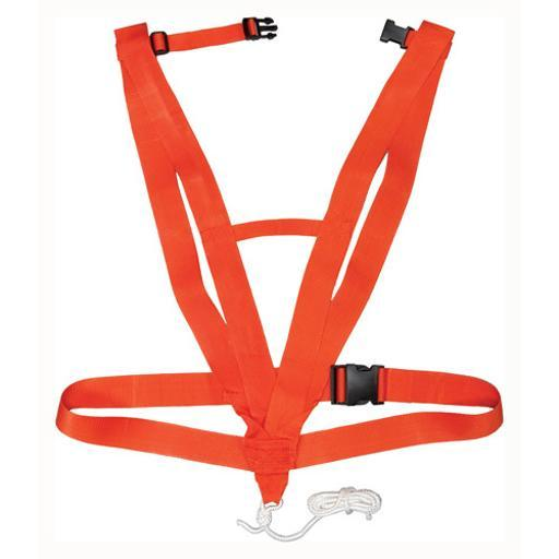 HUNTERS SPECIALTIES 02019 HS DEER DRAG DELUXE BODY HARNESS STYLE SAFETY ORANGE