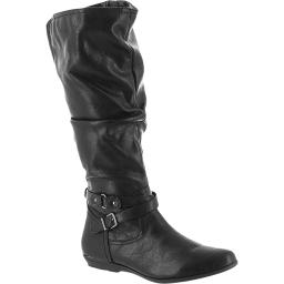 Cliffs by White Mountain Womens Franka Faux Leather Tall Knee-High Boots