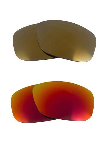 Best SEEK Replacement Lenses for Oakley SQUARE WIRE (2006) Gold Red Mirror -