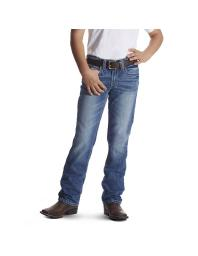 Ariat Western Denim Jeans Boys Charger Slim Med Wash 10018347