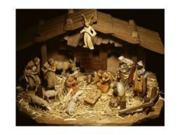 Close-up of figurines depicting a nativity scene Poster Print (24 x 18) SAL2911501D