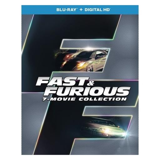 Fast & furious 7-movie collection (blu ray w/digital hd) (8discs) 1286045