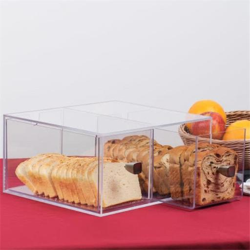 Cal Mil 1480 Eco Modern Two Drawer Acrylic Bread Box for 1279 Bread Case - 12 x 12 x 6 in.