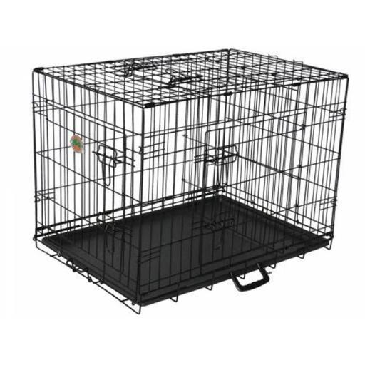 Go Pet Club TD-48 48 in. Three-Door Metal Dog Crate with Divider A291828A088DEC50