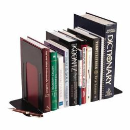 MMF 241009104 Steel Bookends - Deluxe - 9 Inch - Black