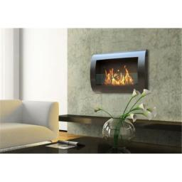 Anywhere Fireplace 90202 Indoor Wall Mount Fireplace-Chelsea Satin Black
