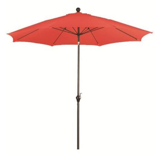 California Umbrella ALUS908117-P17 9 ft. Wind Resistance Fiberglass Pulley Open Market Push Tilt Umbrella - Bronze and Polyester-Tuscan 8C1854041E907AEF