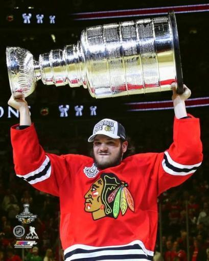 Daniel Carcillo with the Stanley Cup Game 6 of the 2015 NHL Stanley Cup Finals Photo Print UWEPY525ASTT006I