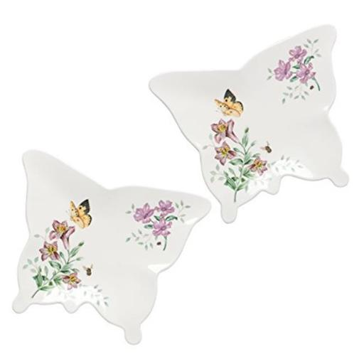 Lenox 866000 Butterfly Meadow Melamine Dinnerware Small Butterfly Tray, 8 dia. - 2 Piece
