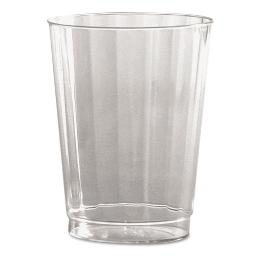 Classic Crystal Plastic Tumblers 10 OZ . Clear Fluted Tall 12 Per Pack | 1 Carton of: 240