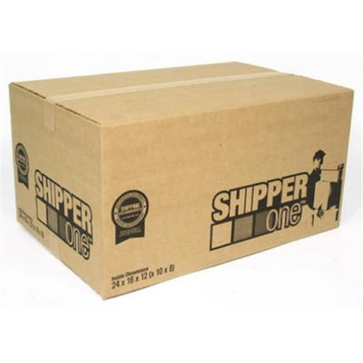 Schwarz Supply SP-900 24 x 16 x 12 in. Shipper One Shipping Box, Pack Of 10