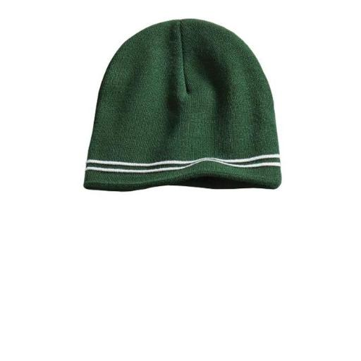 Sport-Tek STC20 Spectator Beanie, Forest Green & White - One Size 5LY8VQR33DL4A1QC