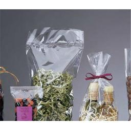 Bags & Bows by Deluxe 690-0410 Clear Hard Bottom Polypropylene Bags - Case of 100 thumbnail