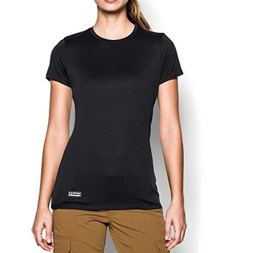 Under Armour Women's Tech Tactical Short Sleeve, Black (001), Size X-Small