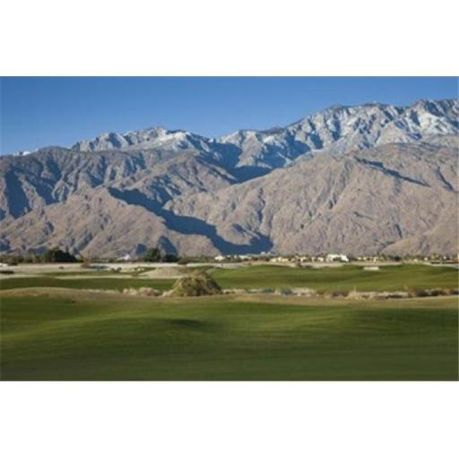 Panoramic Images PPI124784 Golf course with mountain range Desert Princess Country Club Palm Springs Riverside County California USA Poster Print