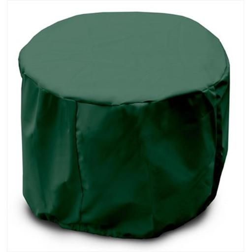 KoverRoos 64262 Weathermax Round Table Cover, Forest Green - 22 Dia x 15 H in.