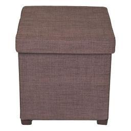 Atlantic, inc. atl-67336043 storage ottoman 17 x 17 brown