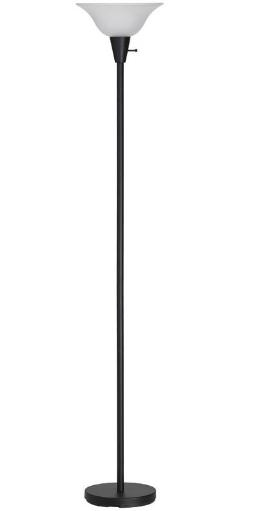 Living Accents 17025-001 Torchiere Floor Lamp, Black