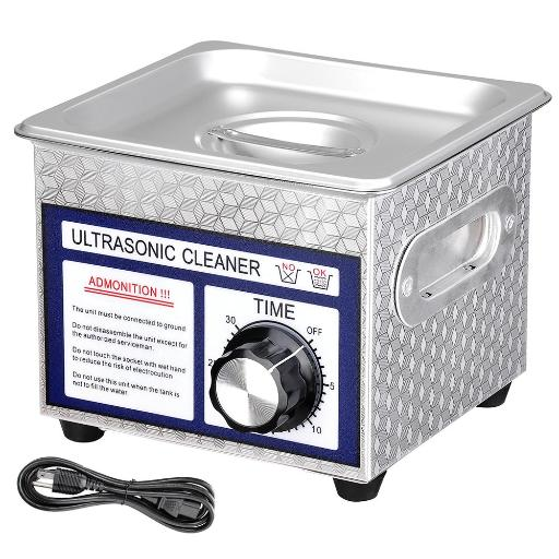 1.3L(1/3 Gallon) Ultrasonic Cleaner 60W w/ Timer Jewelry Glasses Tattoo Dental Home health Care